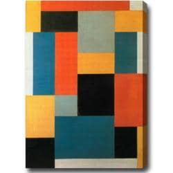 Theo van Doesburg 'Composition' Large Vertical Abstract Oil-on-Canvas Art