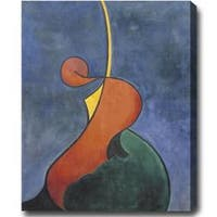 Vertical Contemporary Abstract Oil on Canvas Art - Multi