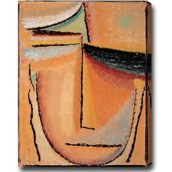 Large 'Face' Abstract Oil on Canvas Art