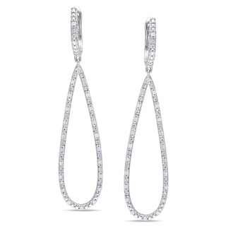 Miadora Sterling Silver 1/4ct TDW Diamond Dangle Earrings