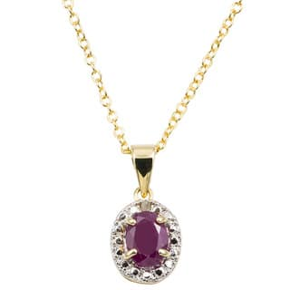 Dolce Giavonna 14k Gold Overlay Gemstone/ Pearl and Diamond Accent Birthstone Necklace|https://ak1.ostkcdn.com/images/products/6856792/P14381587.jpg?impolicy=medium