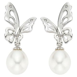 Pearlyta Sterling Silver Children's Freshwater Pearl Butterfly Drop Earrings (7-8 mm)|https://ak1.ostkcdn.com/images/products/6856794/6856794/Pearlyta-Sterling-Silver-Childrens-Pearl-Butterfly-Earrings-7-8-mm-P14381599.jpeg?impolicy=medium