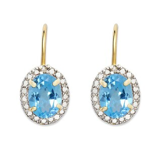 Dolce Giavonna Gold Overlay Birthstone Earrings (More options available)