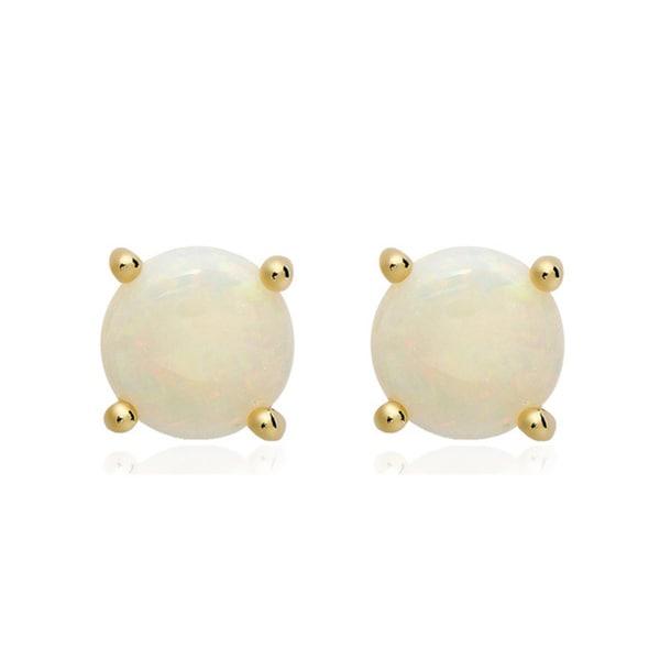 Dolce Giavonna 14k Gold Overlay Gemstone/ Pearl Earrings (7 mm)