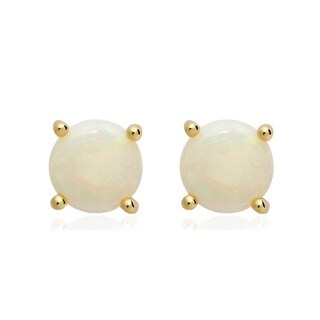 Dolce Giavonna 14k Gold Overlay Gemstone/ Pearl Earrings (7 mm) (More options available)
