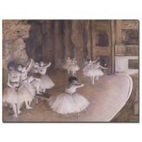 Edgar Degas 'Ballet Rehearsal, 1874' Gallery-Wrapped Canvas Art