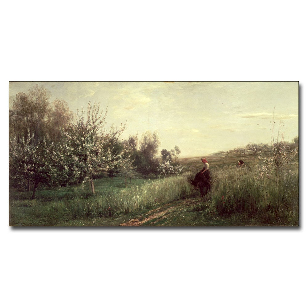 Charles Daubigny 'Spring 1857' Canvas Wall Art