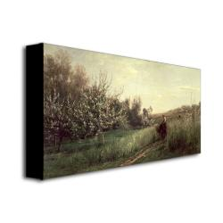 Charles Daubigny 'Spring 1857' Canvas Wall Art - Thumbnail 1