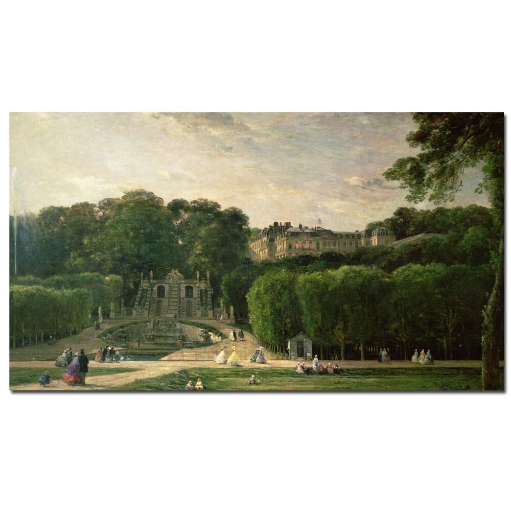Charles Daubigny 'The Park at St.Cloud, 1865' Canvas Art