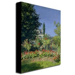 Claude Monet 'Flowering Garden at Sainte-Adresse' Canvas Art