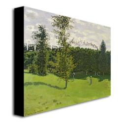 Claude Monet 'Train in the Country, 1870-71' Canvas Art - Thumbnail 1