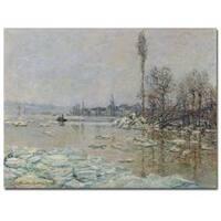 Claude Monet 'The Breakup of Ice, 1880' Canvas Art