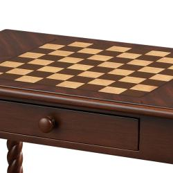 Mahogany Finish Rectangular Accent Game Table