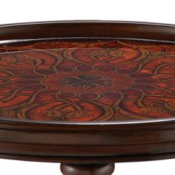 Hand Painted Finish Round Accent Table - Thumbnail 1