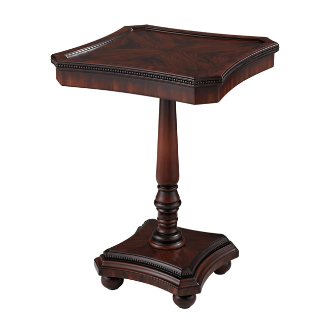 Walnut Finish Square Accent Table