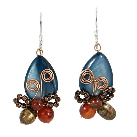 Handmade Enamored Radiant Butterfly Earrings (Thailand)