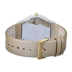 Skagen Women's Ceramic White Dial Beige Leather Strap Watch