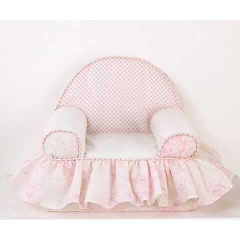 Pink Floral and Dots Foam Baby's 1st Chair Heaven Sent Collection
