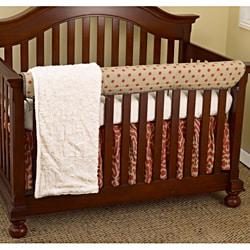 Cotton Tale Raspberry Dot 4-piece Crib Bedding Set