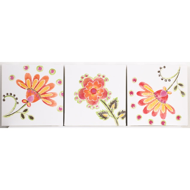 Cotton Tale Gypsy 3-piece Wall Art - Thumbnail 0