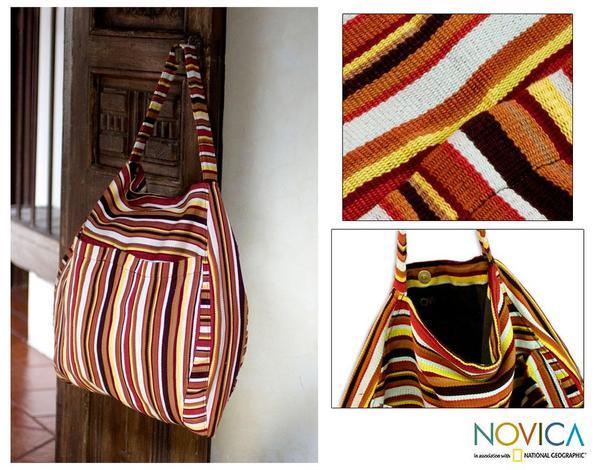 Handmade Cotton 'Colors of My Land' Travel Bag (Guatemala)
