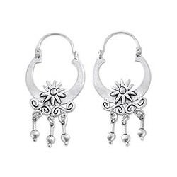 Handmade Sterling Silver 'Days of Sun' Earrings (Mexico)
