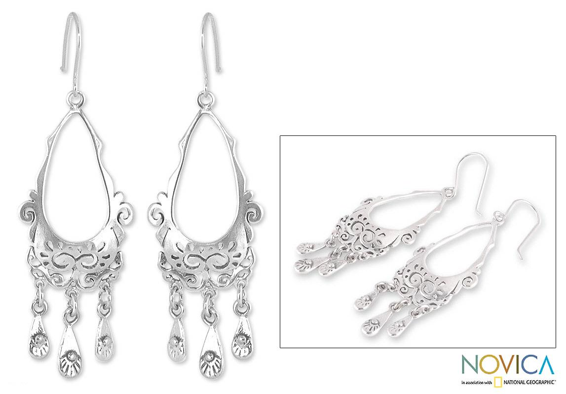 Handmade Sterling Silver 'Taxco Treasure' Earrings (Mexico)