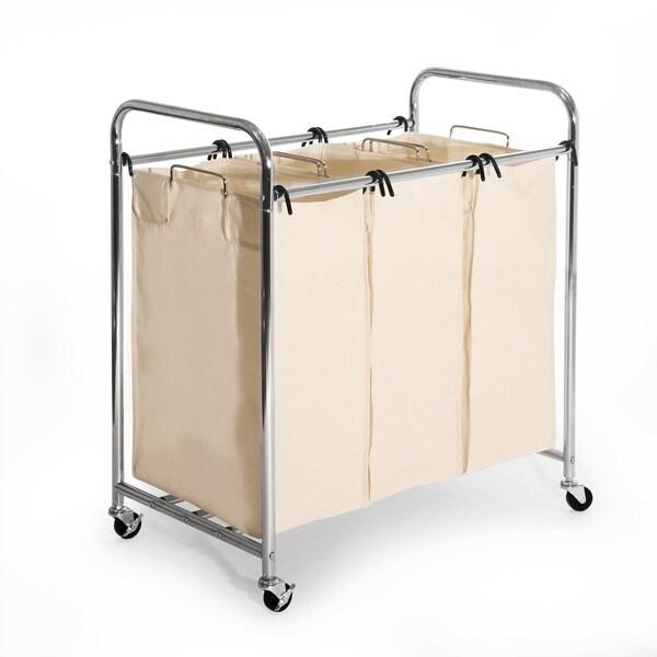 Seville Heavy Duty 3 Bag Laundry Hamper Sorter Free
