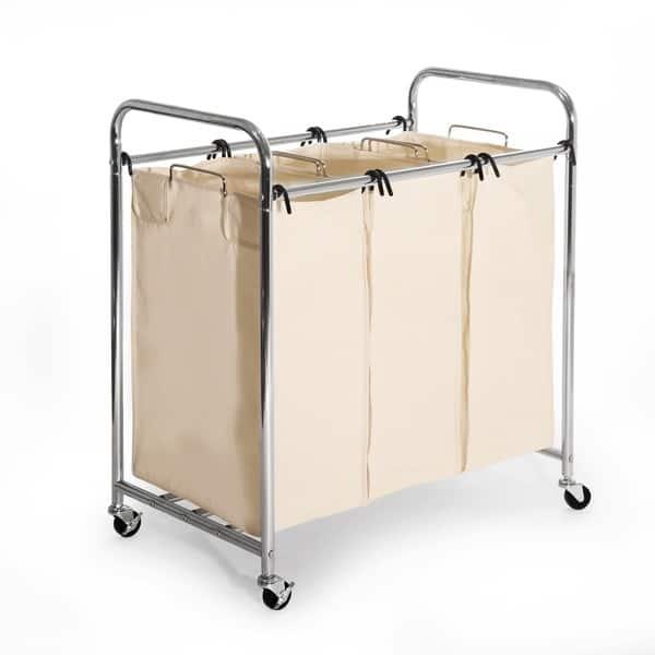 Heavy Duty 3 Bag Laundry Hamper Sorter