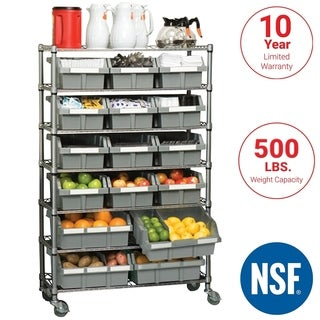 Seville Classics 7-shelf Commercial Bin Rack Storage System (2 options available)