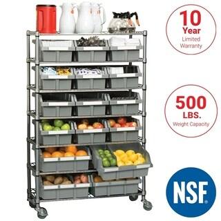 Platinum Commercial 7-Tier NSF 22-Bin Rack Storage System