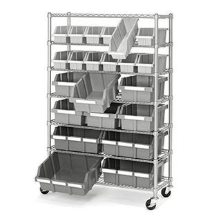 Platinum Commercial 7-Tier NSF 22-Bin Rack Storage System