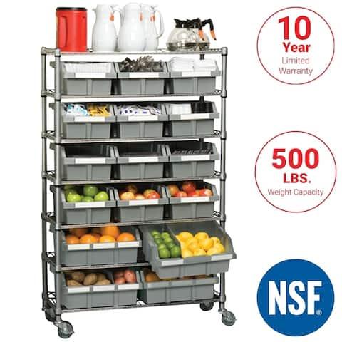 Seville Classics Platinum Commercial 7-Tier NSF 22-Bin Rack Storage System