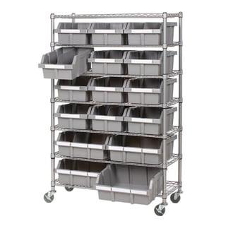 Seville Classics 7-shelf Commercial Bin Rack Storage System