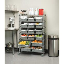 Seville Classics 7 Shelf Commercial Bin Rack Storage