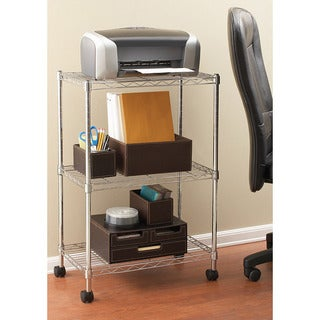 Seville Steel Three-tier Utility Storage Cart