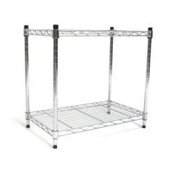 Seville 2-tier Stackable Chrome Shelf Storage - Thumbnail 1