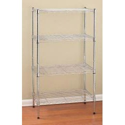 Seville 2-tier Stackable Chrome Shelf Storage - Thumbnail 2