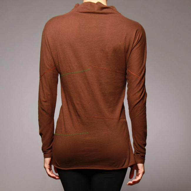 AtoZ Women's Long-sleeve Stitched Top
