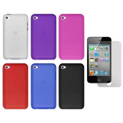 Premium Apple iPod Touch 4th Generation Silicone Case with Screen Protector - Thumbnail 2