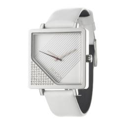 Nixon Women's 'The Metric' Stainless Steel and Leather Quartz Watch