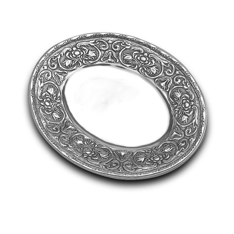 Wilton Armetale William and Mary Oval Tray