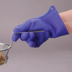 High Grade Blue Silicone Oven Glove - Thumbnail 1