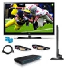 LG 55LX6500 55-inch 1080p 240Hz LED TV 3D Bundle