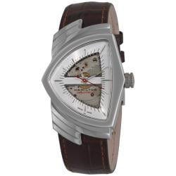 Hamilton Men's 'Ventura' Brown Strap Automatic Watch