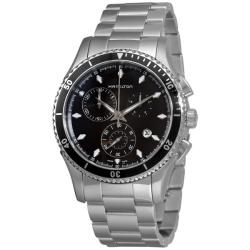 Hamilton Men's 'Jazzmaster Seaview' Stainless Steel Chronograph Watch