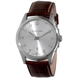Hamilton Men's 'Jazzmaster Thinline' Brown Strap Watch