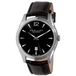 Hamilton Men's 'Jazzmaster Slim' Black Strap Automatic Watch