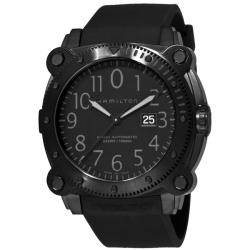Hamilton Men's 'Khaki Navy BelowZero' Black PVD Diver's Watch