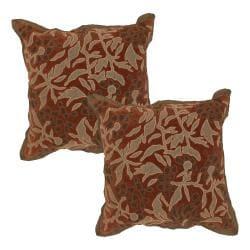 Botanical Rust Decorative Pillows (Set of 2)